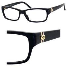 4722efc6f6f Gucci Women s Eyeglasses GG3573 GG 3573 807 Black Full Rim Optical Frame  52mm