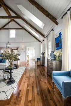 HGTV Dream Home 2015 - Great Room - Wood Floors and Wood Beams