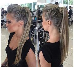 Geflochtene Frisuren, die Sie sehen sollten - Spitze Braided hairstyles that you should see hairstyles Dance Hairstyles, Wedding Hairstyles, Braided Hairstyles, Bandana Hairstyles, Pinterest Hair, Hair Dos, Hair Hacks, Hair Trends, New Hair