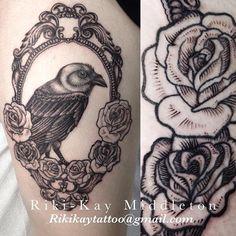 Raven tattoo by Riki-Kay Middleton http://riki-kaytattoos.tumblr.com/ rikikaytattoo@gmail.com