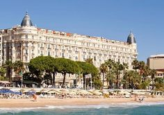 Where I stayed in Cannes, France, the Carlton Hotel
