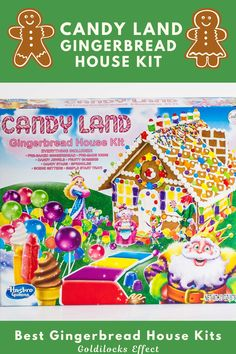 Bring your favorite board game to life with this Candyland gingerbread house kit. With no baking required, it's easy to get creative with the included sweet gingerbread, icing, candy jewels and stars, sprinkles, fruity gummies, mint swirls, and scene setters. From mini villages to candy-themed cottages, here are the most festive, adorable, and easiest-to-DIY gingerbread house kits around in 2020. #gingerbreadhouse #gingerbread #gingerbreadhousekit #candyland Best Gingerbread House Kit, Gingerbread Cookie Mix, Cardboard Gingerbread House, Cool Gingerbread Houses, Classic Holiday Movies, Ginger Bread House Diy, Pop Up Play, Types Of Candy, Scene Setters