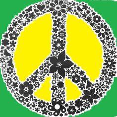 ➳➳➳☮ American Hippie Art - Peace Sign