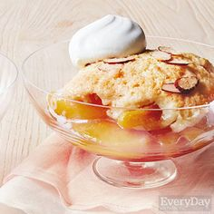 Spiced Peaches & Cream Cobbler
