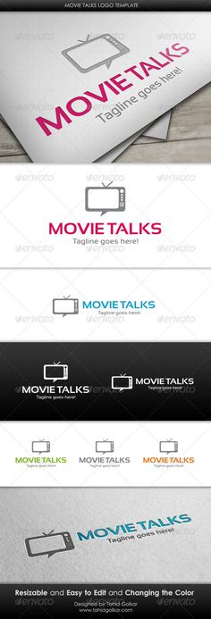 Movie Talks  - Logo Design Template Vector #logotype Download it here: http://graphicriver.net/item/movie-talks-logo-template/3418332?s_rank=278?ref=nesto