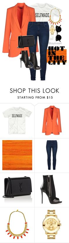"""""""Hot In The City"""" by sayitwearit on Polyvore featuring Olla Parèg, Élitis, Yves Saint Laurent, Giuseppe Zanotti, Yochi and Movado"""