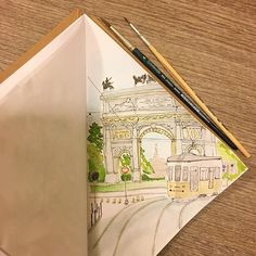 #4 #milan #italy #milano #arcodellapace #portasempione #italiantrip #lovingitaly #illustrator #illustrationoftheday #illustration #ink #inkillustration #watercolor #watercolorillustration #drawingoftheday #draw #drawing #beautifulcity #italiancity #sketchbookproject