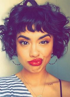 51 Lovely Short Curly Hairstyles: Tips for Healthy Short Curls 51 Beautiful Short Curly Hairstyles: Tips for Healthy Short Curly Hair – Glowsly Short Curly Hair Updo, Pixie Haircut For Thick Hair, Short Curls, Short Hair With Bangs, Curly Hair Cuts, Hairstyles With Bangs, Short Hair Cuts, Curly Hair Styles, Hair Bangs
