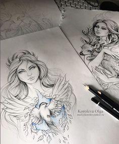 nature goddess tattoo beautiful - nature goddess tattoo _ nature goddess tattoo tree of life _ nature goddess tattoo beautiful Art Drawings Beautiful, Beautiful Sketches, Amazing Drawings, Flash Art Tattoos, Pencil Art Drawings, Tattoo Drawings, Tatouage Xo, Tattoo Bauch, Catrina Tattoo