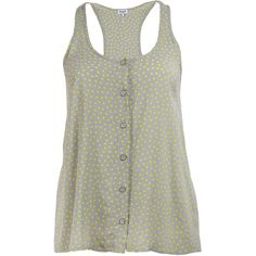 Splendid Button Up Tank ❤ liked on Polyvore
