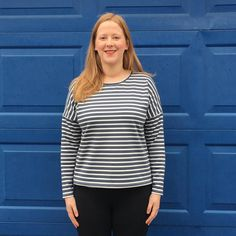 Finally after two years Rachel owns a stripey top! This weekend she made the Sew Over It Molly top from their City Break e-book. The Molly top is an essential wardrobe basic for every sewist and in a light weight viscose Ponte di Roma it's cosy for Winter. It gets the thumbs up from us Sew Over It Patterns, Essential Wardrobe, City Break, Capsule Wardrobe, Cosy, Sewing Projects, Quilting, Winter, How To Make