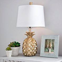 Product Details Gold Pineapple Table Lamp - All For Decoration Pineapple Room Decor, Pineapple Lamp, Pineapple Design, Chandelier Design, Lamp Design, Design Design, House Design, Chair Design, Bedside Table Lamps