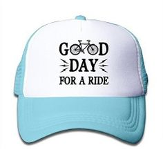 SkyblueKid s Bicycle Gift Good Day For A Ride Snapback Cap Hat Trucker Hats 79a4a8b0b025