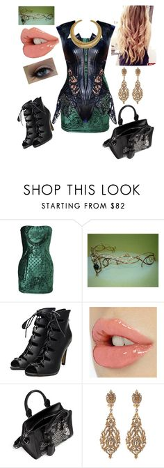 """""""female loki"""" by miraonthewall789 ❤ liked on Polyvore featuring Balmain, Alexander McQueen, Jose & Maria Barrera and Hissia"""