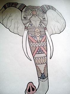 #zentangle #doodle #art #elephant #animal #india