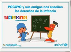 Pocoyo nos enseña los Derechos del Niño en este cuaderno de Unicef en que los derechos se repasan escribiendo y coloreando. Family Guy, School, Fictional Characters, Cultural, Infants, Pdf, World, Graphing Activities, Interactive Activities