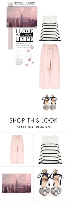 """Pink Happiness"" by youaresofashion ❤ liked on Polyvore featuring River Island, Cardigan, Monde Mosaic, J.Crew and stripes"