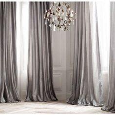 PLATINUM SILK curtain, dupioni silk, grey, silver, window dressing, draping, home decor, interior decor, window treatment by ZylstraArtAndDesign on Etsy https://www.etsy.com/listing/228720489/platinum-silk-curtain-dupioni-silk-grey