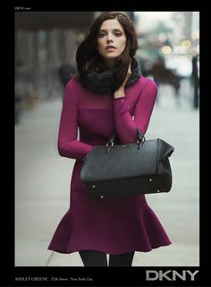 Ashley Greene was the face for the DKNY Fall 2012 Ad Campaign