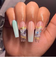 Bling Acrylic Nails, Acrylic Nails Coffin Short, Square Acrylic Nails, Simple Acrylic Nails, Summer Acrylic Nails, Best Acrylic Nails, Summer Nails, Matte Nails, Gel Nails