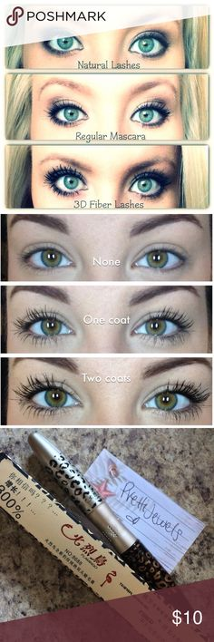 3D Fiber Lash Mascara Brand new✨ I DONT TRADE  Fibers are black colored ✨100% all natural organic green tea fibers 2 in 1 wand  ❗️⭐️How to:⭐️❗️ ✨Apply first coat of mascara/transplant gel. Be sure to fully coat your lashes ✨Apply fibers. Close your eye enough while applying fibers, as they are loose and can fall into your eye  ✨Apply another coat of mascara  ✨Repeat until you achieve your desired look    ✨Orders are processed & shipped out in 2-4 biz days.  Tags: lash eyelash makeup falsies…