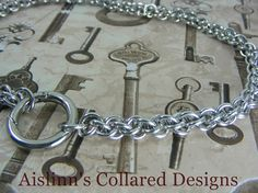 BDSM Gorean Slave Collar JPL with O-Ring Clasp by aislinnscollared