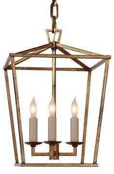 Darlana Mini Lantern, Gilded Iron $375.00