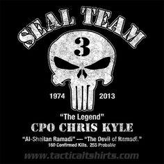 chris kyle   Shirt: Chris Kyle – Chad Littlefield Memorial T-Shirt.