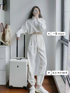 Korean Girl Fashion, Korean Fashion Trends, Ulzzang Fashion, Korean Street Fashion, Kpop Fashion Outfits, Korea Fashion, Edgy Outfits, Cute Casual Outfits, Fashion Hacks