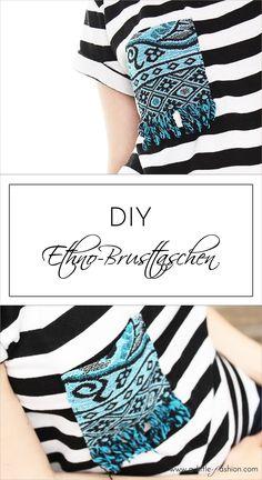 T-Shirt mit Ethno-Brusttasche aufpeppen | A Little Fashion | http://www.a-little-fashion.com/diy/t-shirt-mit-ethno-brusttasche-aufpeppen