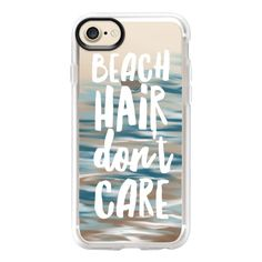 Beach Hair Don't Care - iPhone 7 Case And Cover (531.920 IDR) ❤ liked on Polyvore featuring accessories, tech accessories, phone cover, iphone case, clear iphone case, iphone cases, apple iphone case and iphone cover case