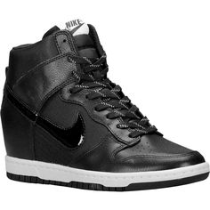 Nike Dunk Sky Hi Sneakers in Black as seen on Carmen Electra