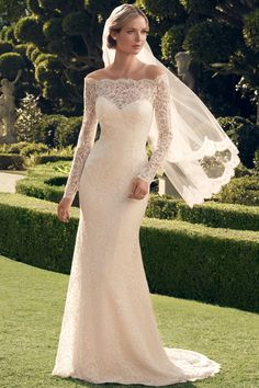 Wedding gown by Casablanca Bridal Love this  I love the gown and the lace sleeping because it half cut ☺️☺️☺️☺️