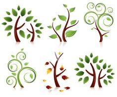 Tree Set Royalty Free Stock Vector Art Illustration
