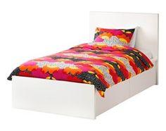 MALM rama łóżka, wysoka, 2 pojemniki - 90x200 cm / IKEA