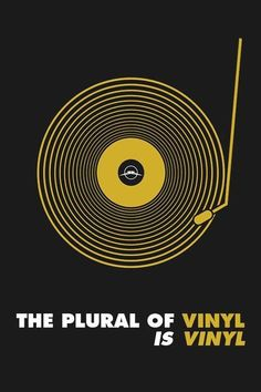 CRATE DIGGING the plural of vinyl is vinyl Records Plus aims to provide you best… Vinyl Music, Dj Music, Vinyl Art, Music Stuff, Vinyl Poster, House Music, Music Is Life, Plakat Design, Vinyl Quotes