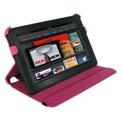 Amazon Kindle Fire 7 Slim  Folio Case Cover Pink Stand Tablets Covers