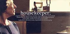 "Downton Abbey's Mrs. Hughes, ""housekeeper.."" .."