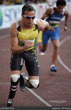 Oscar Pistorius will be competing in the london olympics this year as the first amputee to ever compete in the games! awesome!!