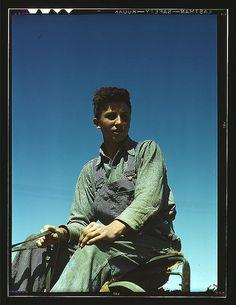 Portrait of a farm boy, 1945
