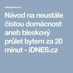 Návod na neustále čistou domácnost aneb bleskový průlet bytem za 20 minut - iDNES.cz