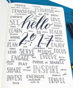2017 journal idea - yearly words