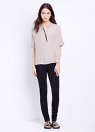 Silk Tipped Cap Sleeve Popover   Vince