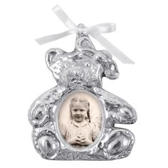 Mariposa Teddy Bear Ornament Picture Frame
