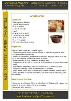 TUPPERWARE Angel cake
