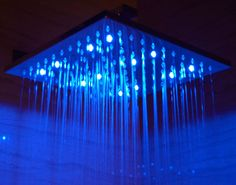 No Batteries! This high tech rain shower head powers the LED lights using a built in hidden dynamo. The lights will automatically turn on when water pressure Best Rain Shower Head, Led Shower Head, Bathroom Shower Heads, Shower Tub, Bathroom Ideas, Bath Ideas, Large Shower, Diy Shower, Shower Faucet