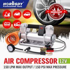 NEW 12v Car Air Compressor 4x4 Tyre Deflator 4wd Portable Inflator 150L