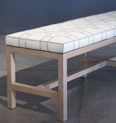 Hand Stitched Leather Bench - Crop