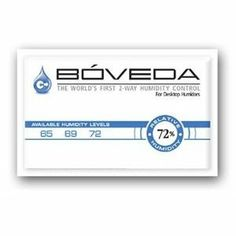 Case of 12 Boveda 2-Way Humidity Control in RH of 72 by Boveda. $39.95. Case includes 12 Boveda Packets. Creates a perfect aging environment for young cigars. Revolutionary, two-way humidity control. Buy Boveda by the Box (12 packets) and save. 72 RH Boveda Packets Boveda is the easy to use super-revolutionary patented technology that provides the world's first disposable 2-way humidity control. It's designed to maintain a constant, predetermined level of relative humi...
