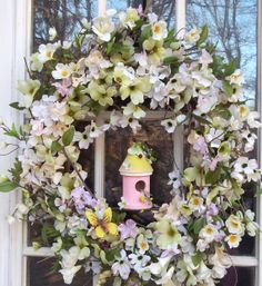 Cherry blossom cottage  Spring Wreath Valentine by ameliebelle, $75.00